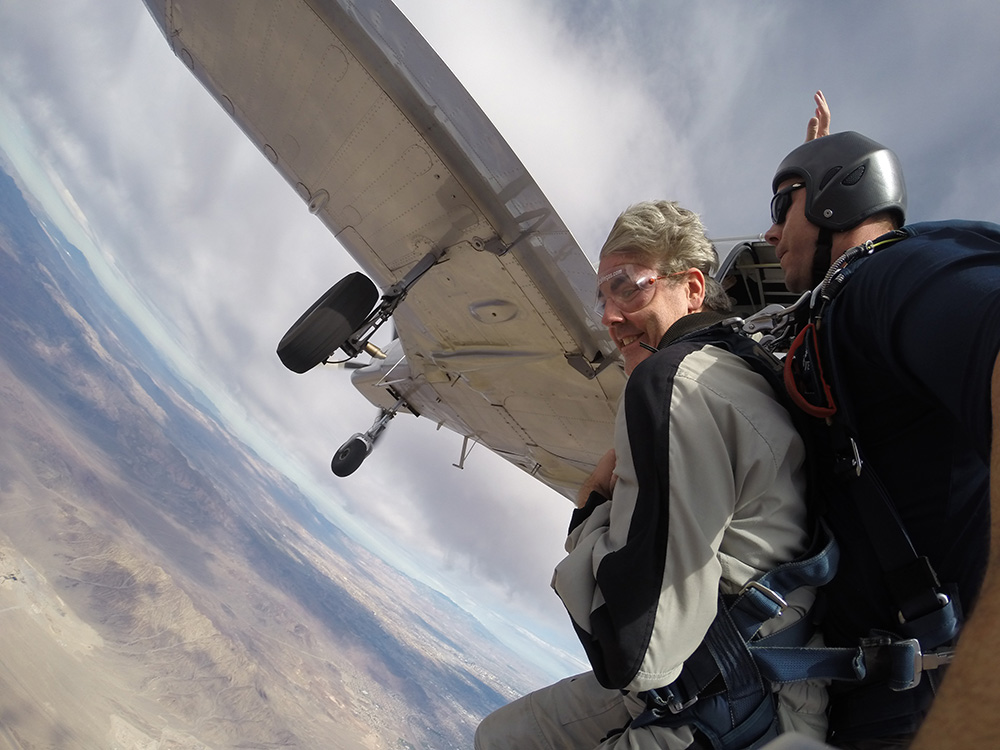 Brendan Magone, Tandem Skydiving, Just Out of Plane, Skydive Las Vegas