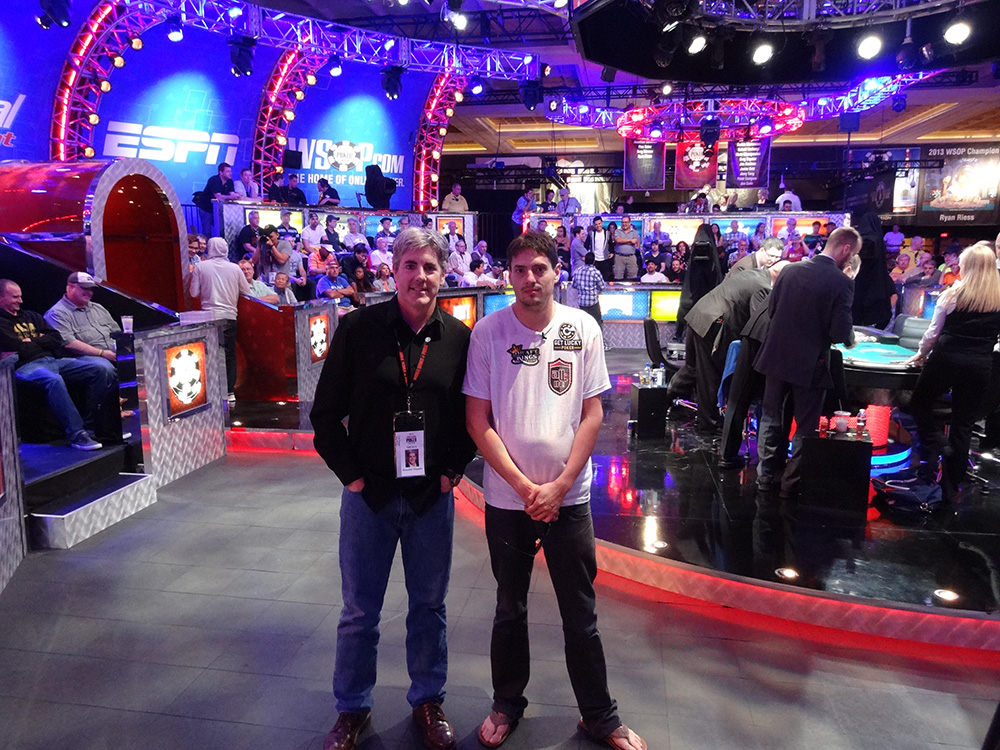 Brendan Magone with Mark Newhouse, Poker Player and November Nine WSOP 2014, Las Vegas