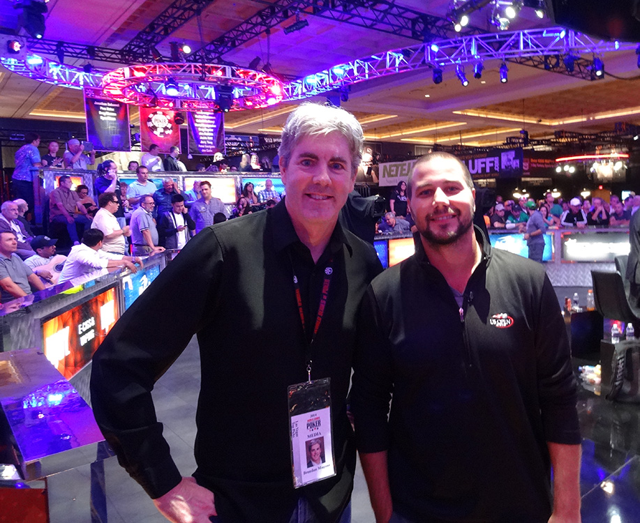 Brendan Magone with Poker Player & November Niner Daniel Sindelar, WSOP 2014