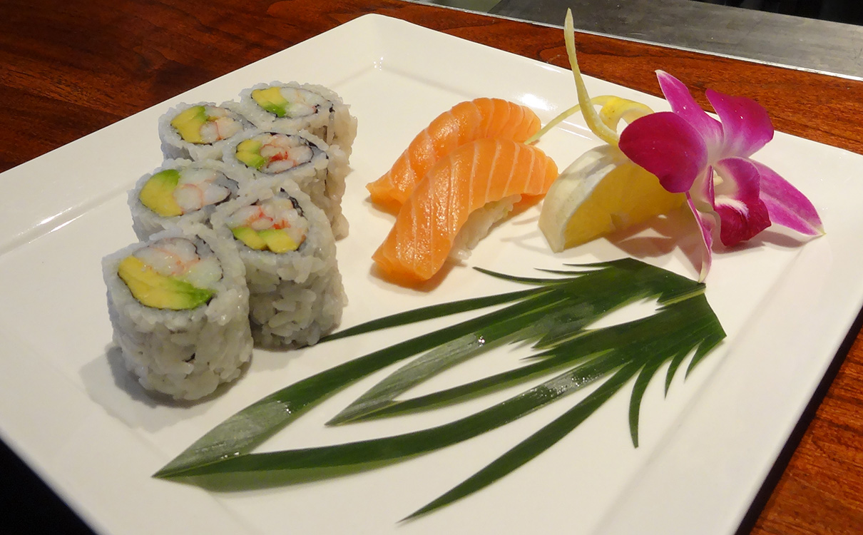 California Roll with Salmon Sushi, Sushi Roku, Caesars Vegas