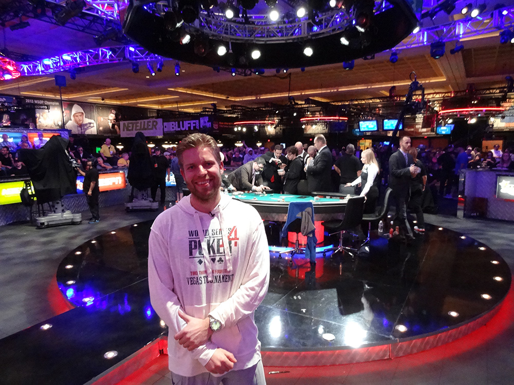 Chip Leader in November Nine, Jorryt van Hoof, WSOP 2014 Las Vegas
