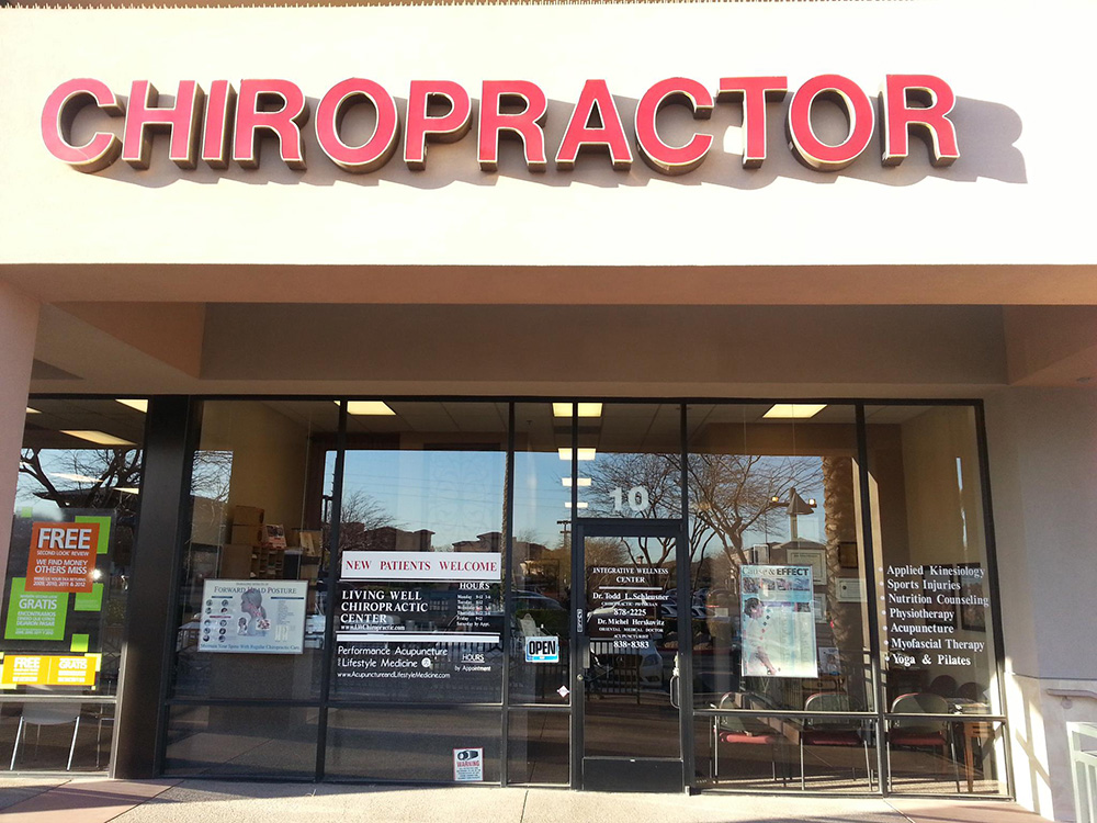 Entrance to Living Well Chiropractic, Summerlin, Las Vegas