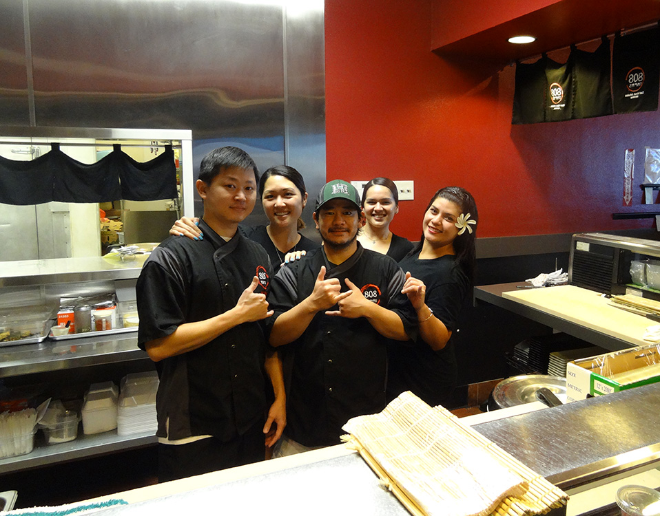 Fun Cool Staff at 808 Tapas, Hawaiian Sushi, Summerlin Vegas