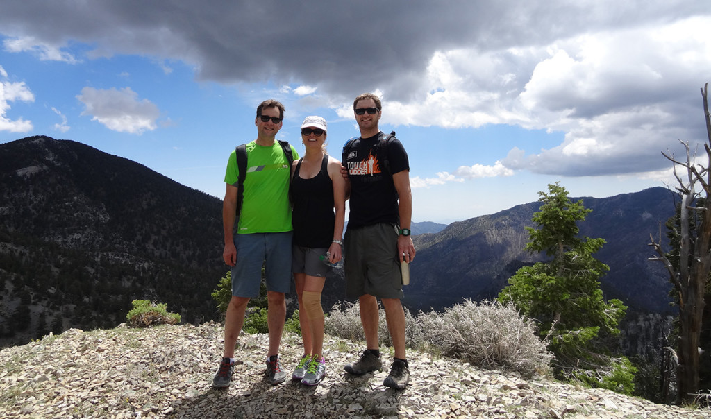 Hikers at top of Trail Canyon, Mt Charleston Area, Nevada