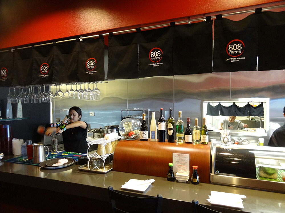 Inside 808 Tapas, Sushi in Summerlin, Las Vegas