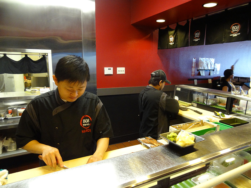 Making Sushi, 808 Tapas in Regal Village Square, Summerlin Vegas