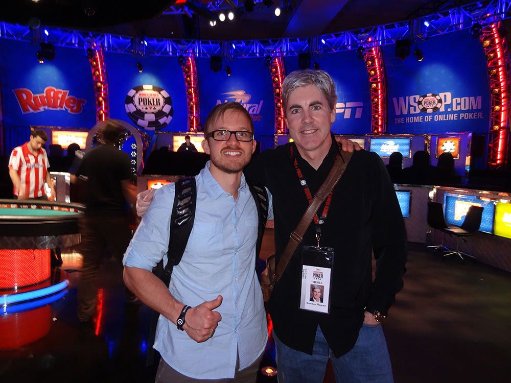 Martin Jacobson, Poker Player in November Nine, WSOP 2014, with Brendan Magone, Founder & Lead Writer for Las Vegas Top Picks