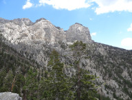 Ridge View of Limestone Peaks, Top of Trail Canyon, Mt Charleston Area NV