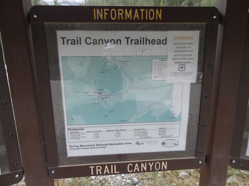 Trail Canyon Trailhead Information, Mt Charleston Area, Nevada