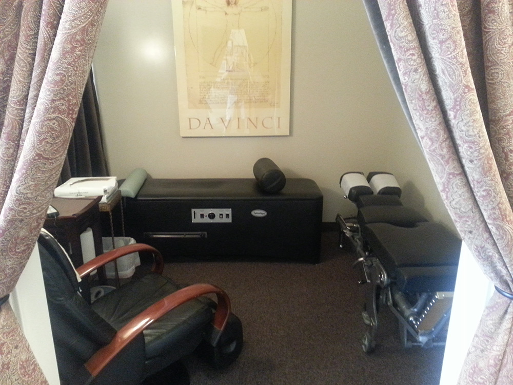 Treatment Room, Living Well Chiropractic, Summerlin Vegas