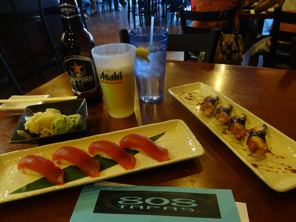 Tuna & Unagi Sushi at 808 Tapas, Summerlin Vegas