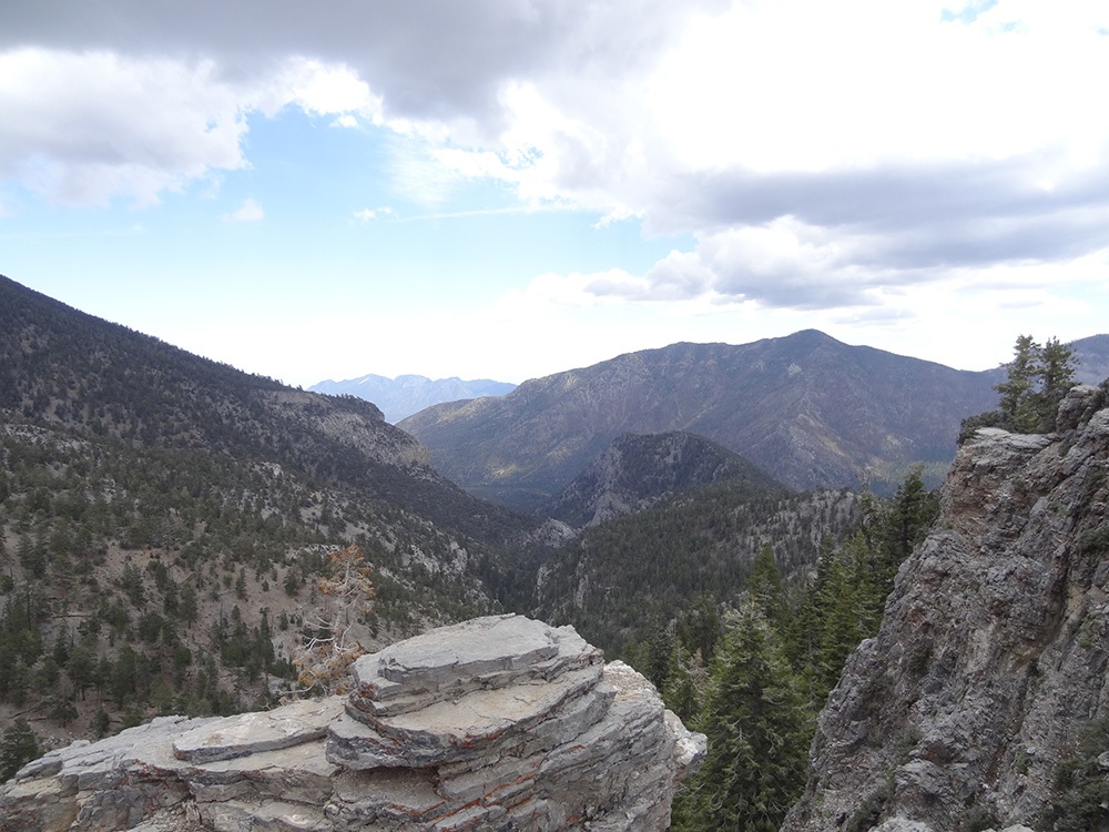 View from top of Trail Canyon, Mt Charleston Area, NV