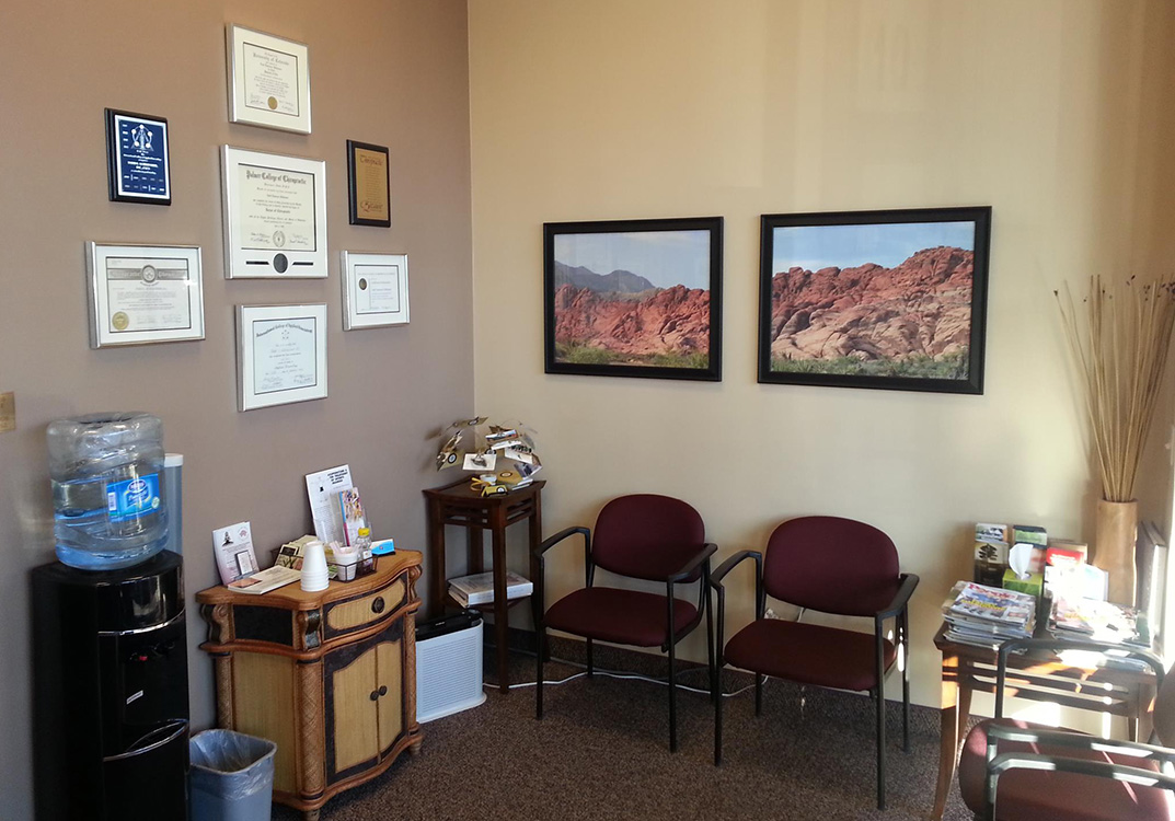 Waiting Area, Living Well Chiropractic Center, Summerlin Vegas