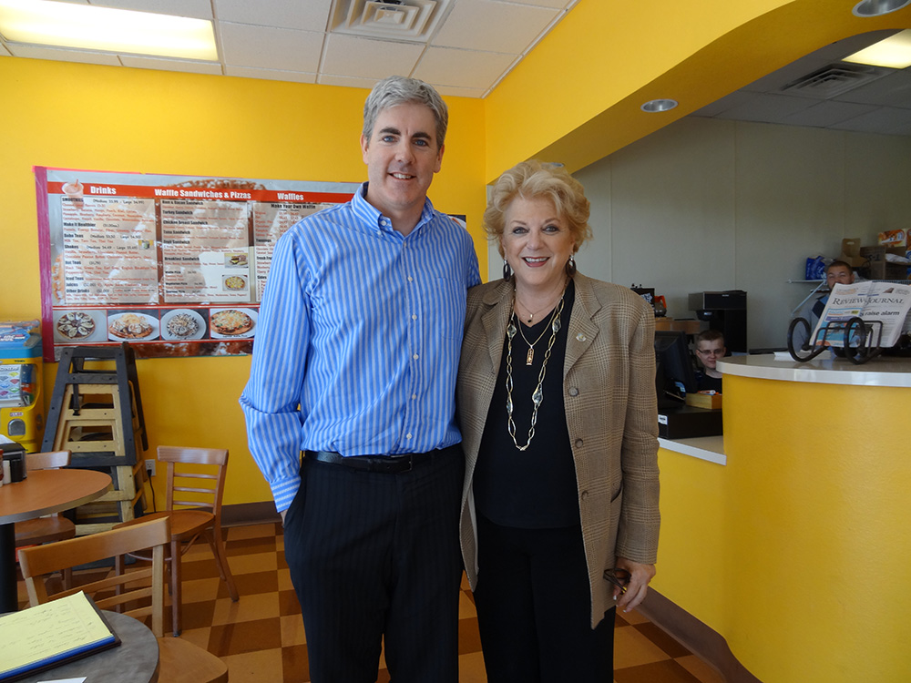 Brendan Magone with the Mayor of Las Vegas, Carolyn G. Goodman