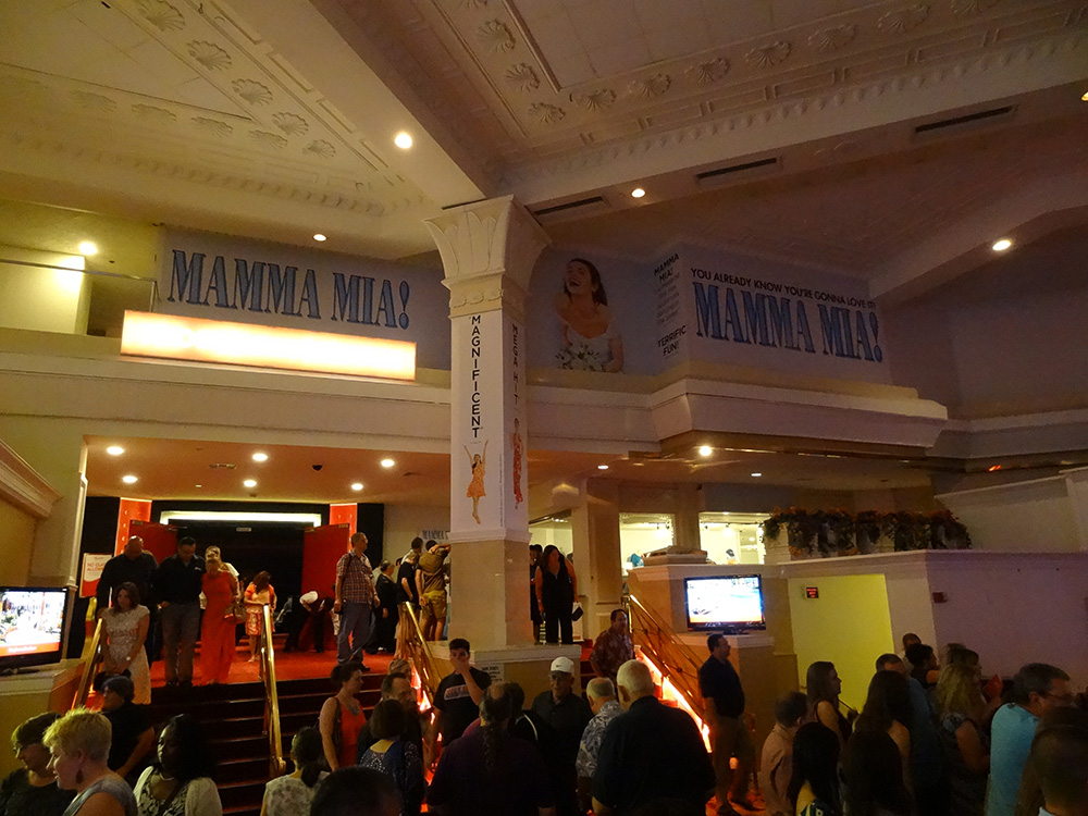 Entrance Tropicana Theatre, Mamma Mia, Las Vegas