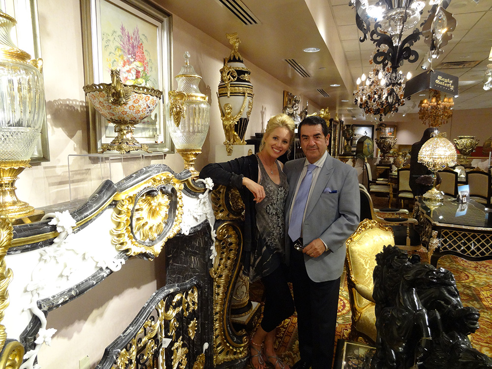 Cesar H. Sales, Director of Regis Galerie, and Katheryn Maerz, Venetian Las Vegas