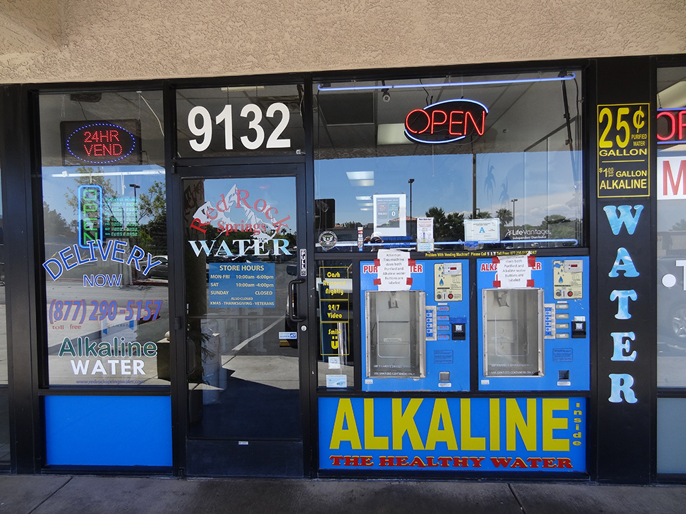 Red Rock Springs Water, Store Entrance, Summerlin Las Vegas