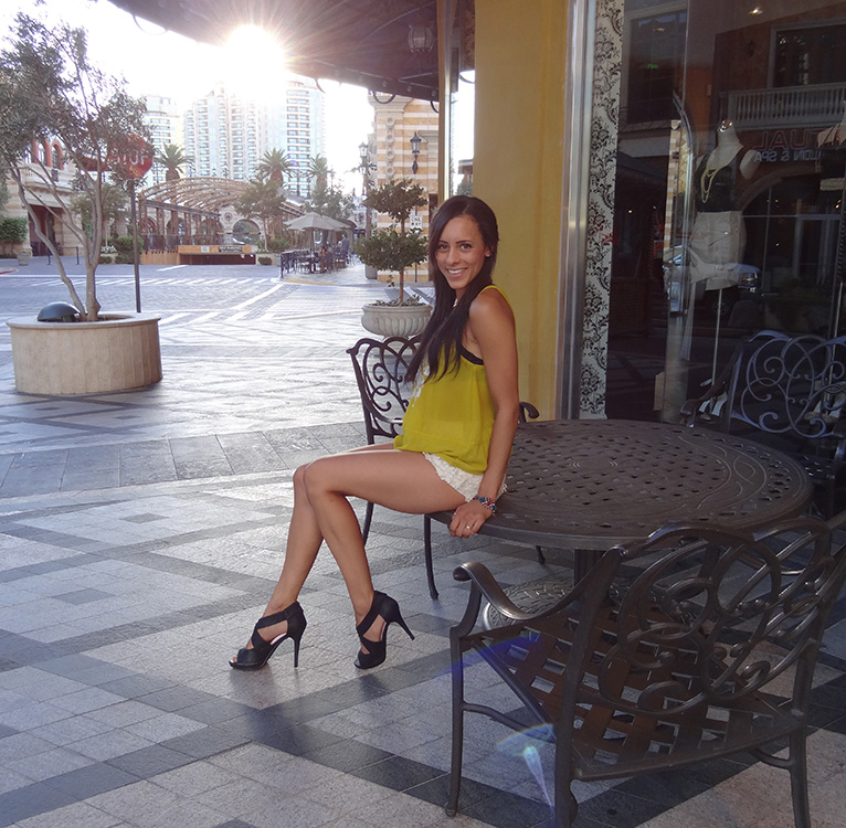 Ashley Morgan, Sunset at Tivoli Village, Las Vegas