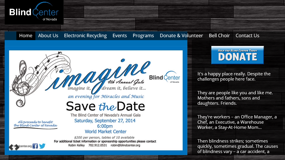 Blind Center, Save The Date, Las Vegas