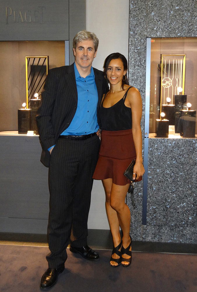 Brendan Magone with Assistant & Model Ashley Morgan, Wynn Piaget Event, Las Vegas