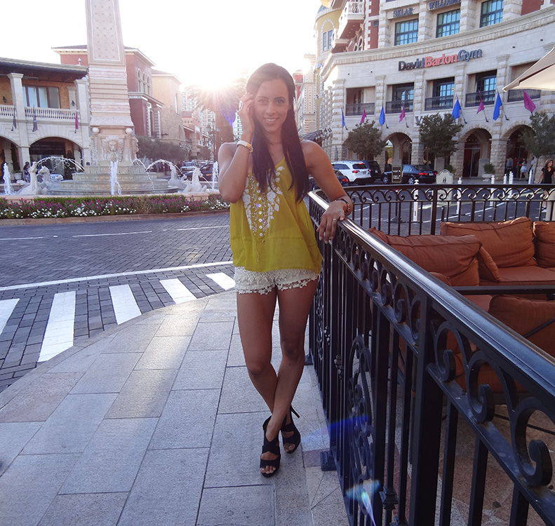 Center of Tivoli Village, Ashley Morgan, Assistant & Model for Las Vegas Top Picks