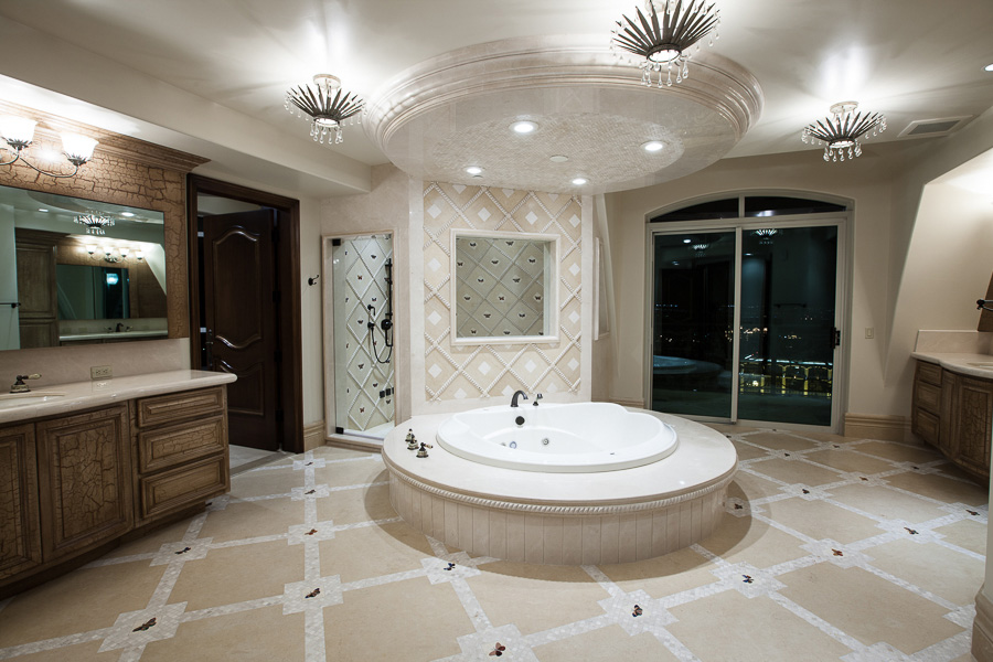 Crown Penthouse Master Bath One, Queensridge Towers, Las Vegas