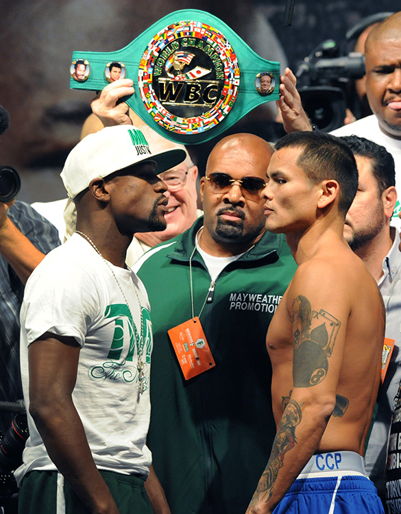 Mayweather Jr Vs Maidana Weigh In MGM Las Vegas