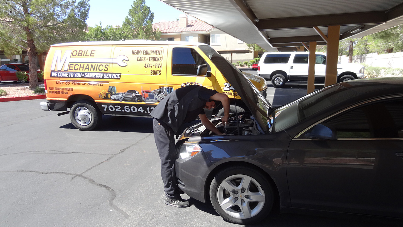 Mechanic Tyler Austin, Replacing My Battery, Mobile Mechanics of Las Vegas