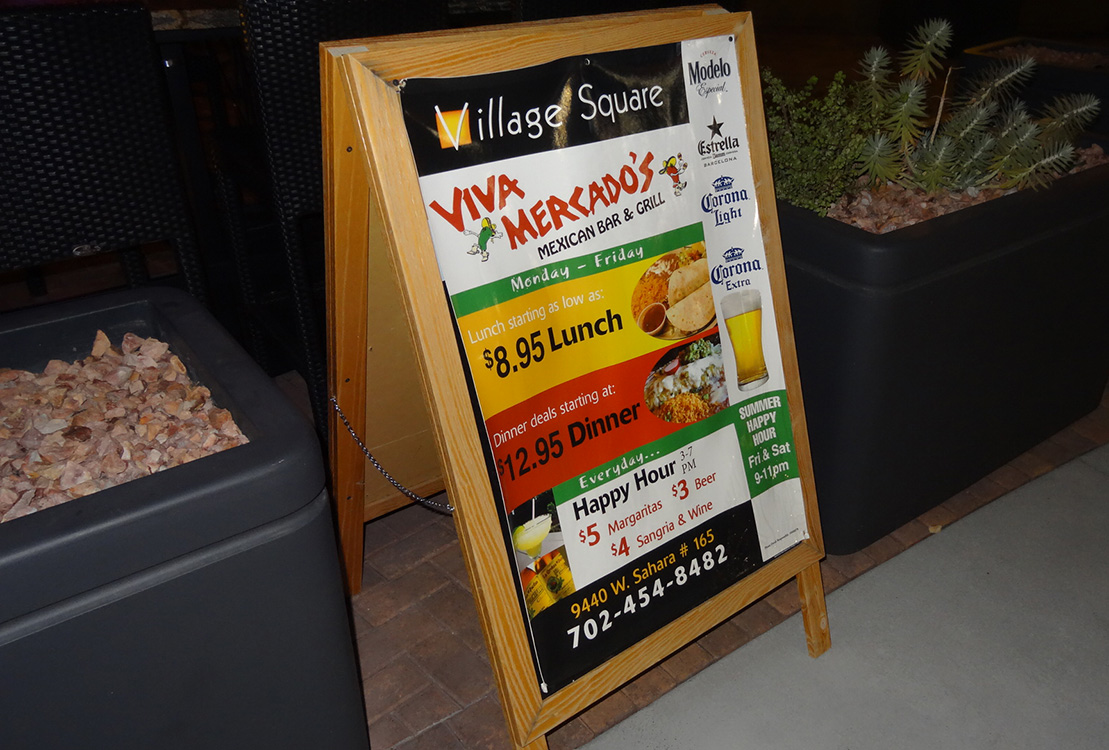Viva Mercado Sign, Mexican Bar & Grill, Summerlin Las Vegas