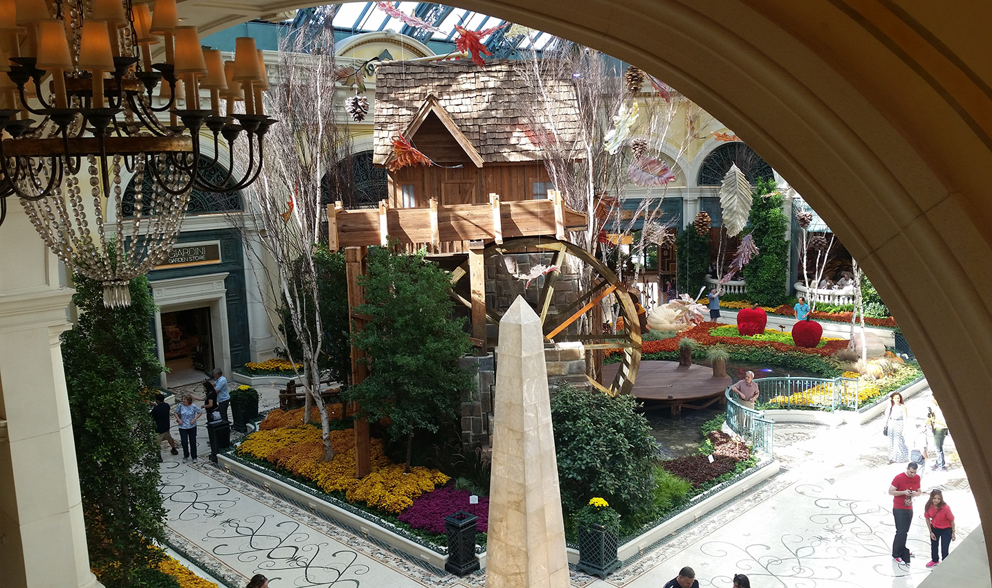 Bellagio Conservatory Autumn 2014, From Second Floor, Las Vegas