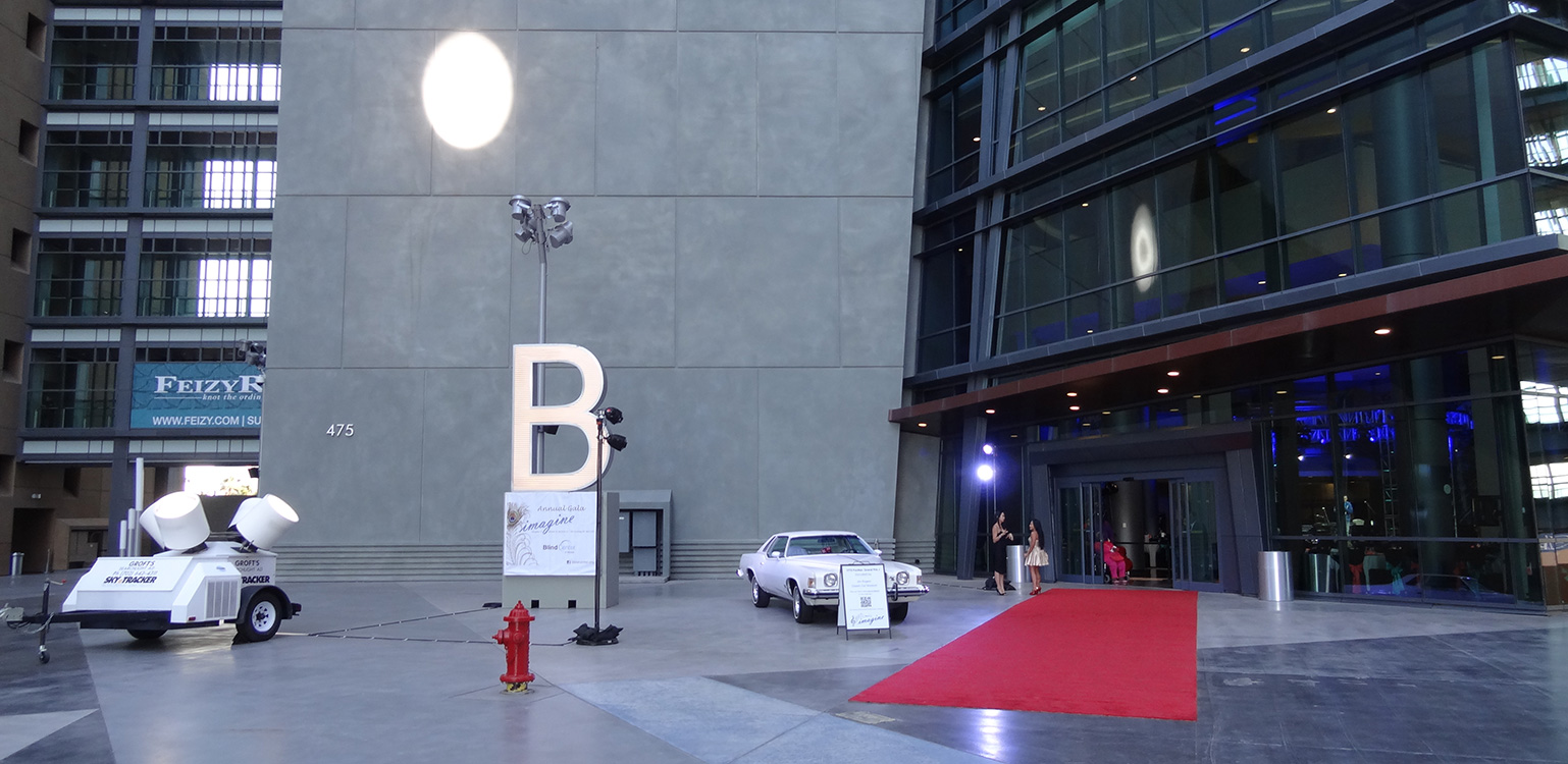 Entrance to 4th Annual Imagine Gala, Blind Center of Nevada, Downtown Las Vegas