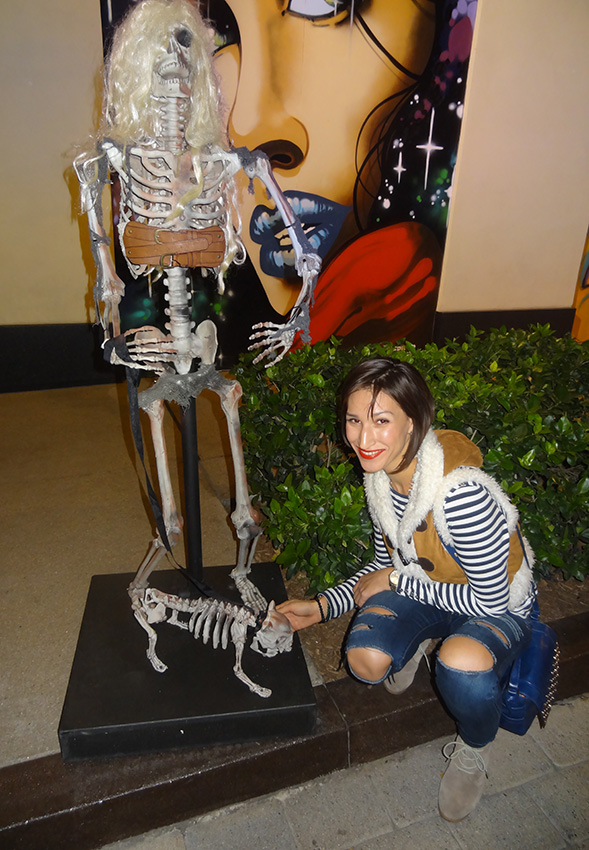 Kseniya Petting Skeleton Dog, LINQ District, Las Vegas