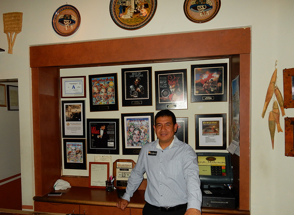 Lindo Michoacan Manager, Andres Roman, West Flamingo Las Vegas