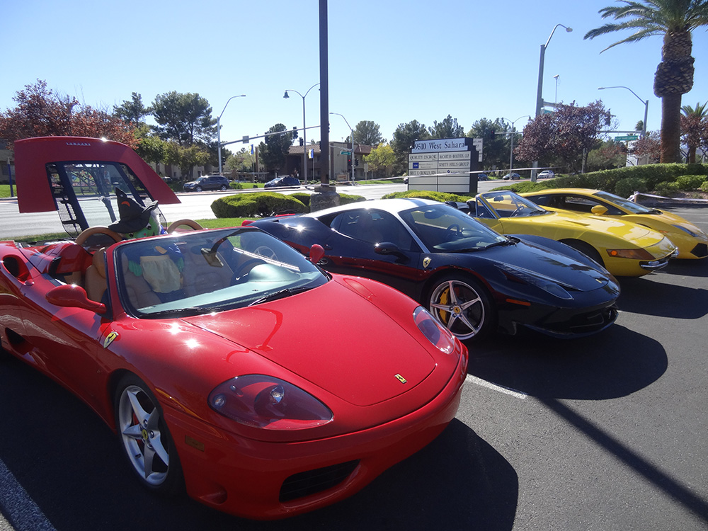 Luxury Italian Sports Cars, Siena Italian Restaurant, Las Vegas