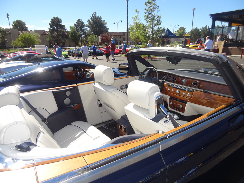 Rolls Royce Convertible, Interior, Siena Italian Sports Car Day, Las Vegas