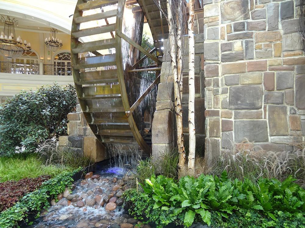 Wooden Waterfall, Autumn Celebration 2014, Bellagio Botanical Gardens, Las Vegas