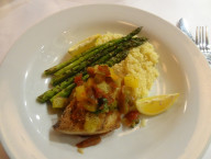 Yellowtail with Asparagus, Siena Italian, Las Vegas