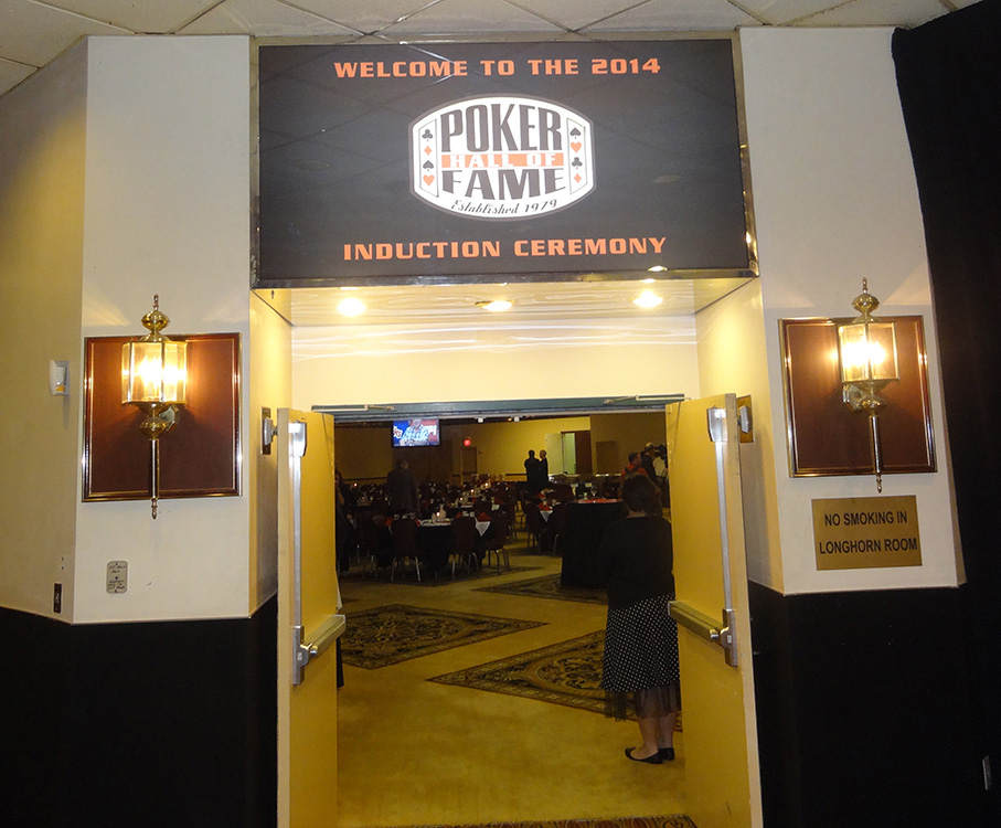 2014-Poker-Hall-of-Fame-Induction-Ceremony,-Entrance,-Binions-Las-Vegas