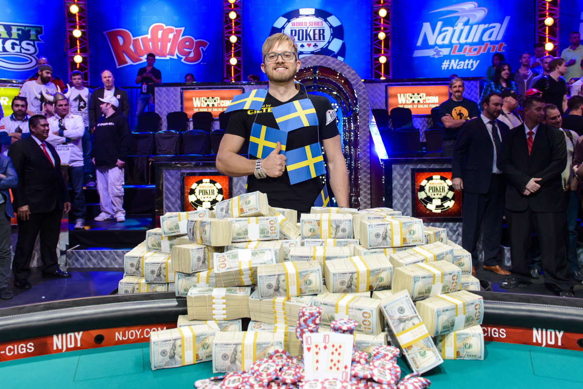 Main Event Winner Martin Jacobson 2014 WSOP Main Event Final Table Las