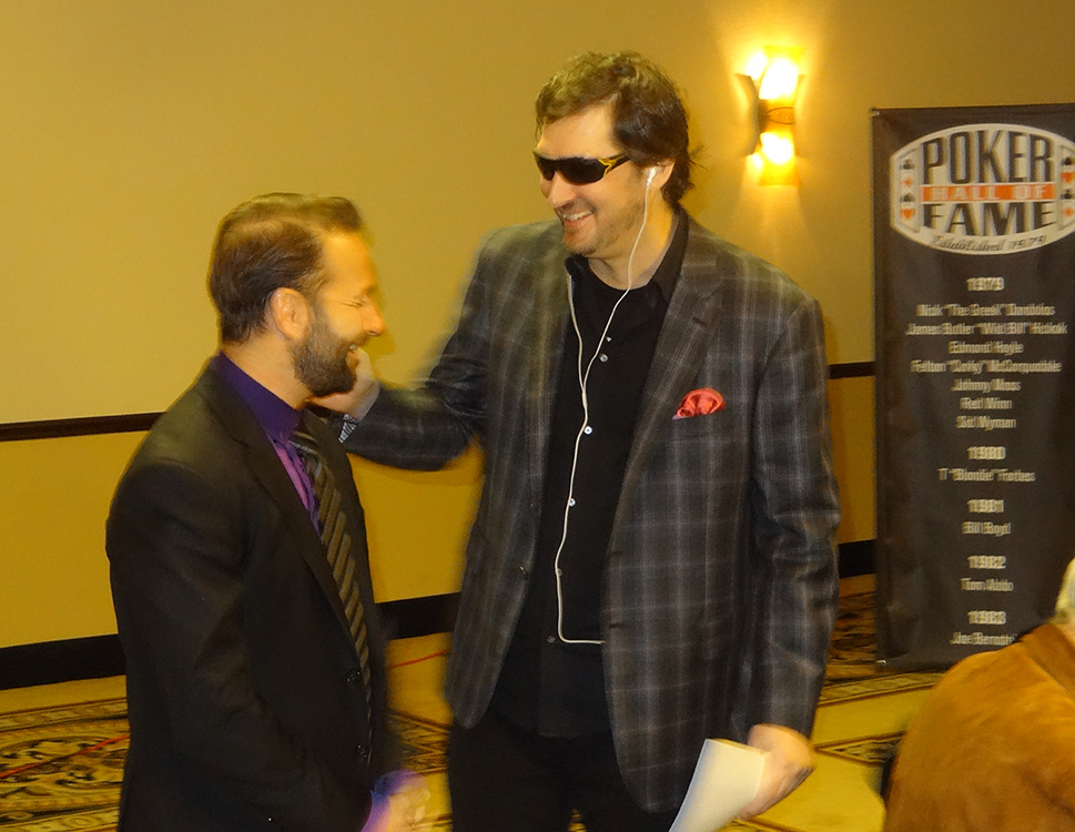 Phil-Hellmuth-&-Daniel-Negreanu,-2014-Poker-Hall-of-Fame-Ceremony,-Binions-Las-Vegas