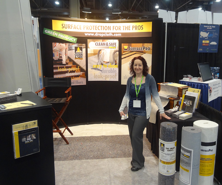 Reusable Surface Protection, Clean & Safe Pro, Drop Cloth, IBS Las Vegas 2015