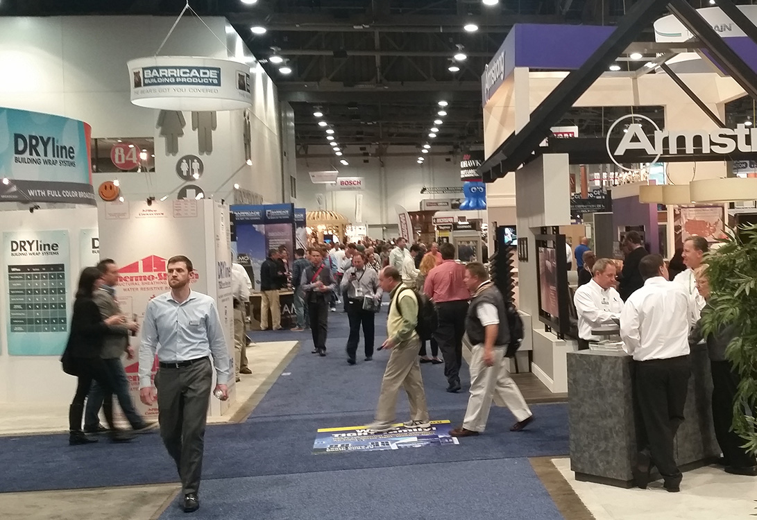 Crowds Perusing Booths at IBS 2015, Las Vegas