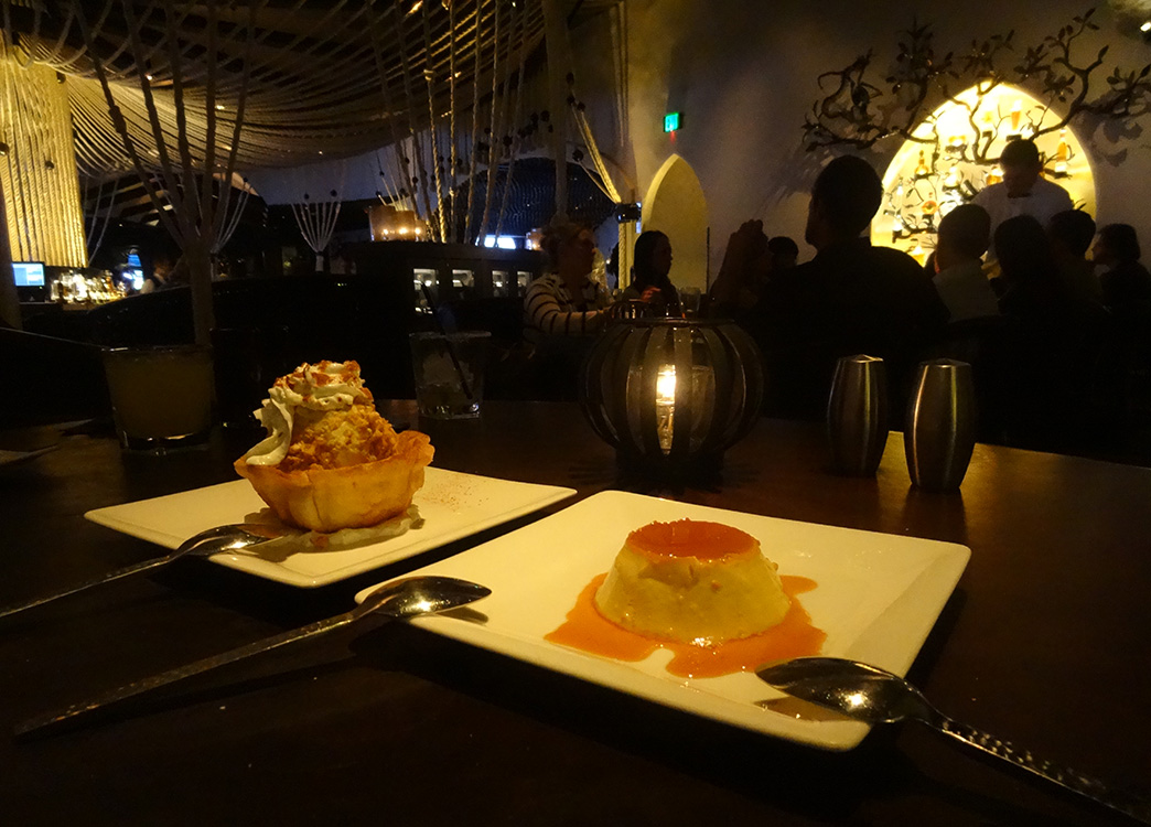 Desserts-at-Javiers,-Mexican-Cuisine-inside-Aria,-Las-Vegas