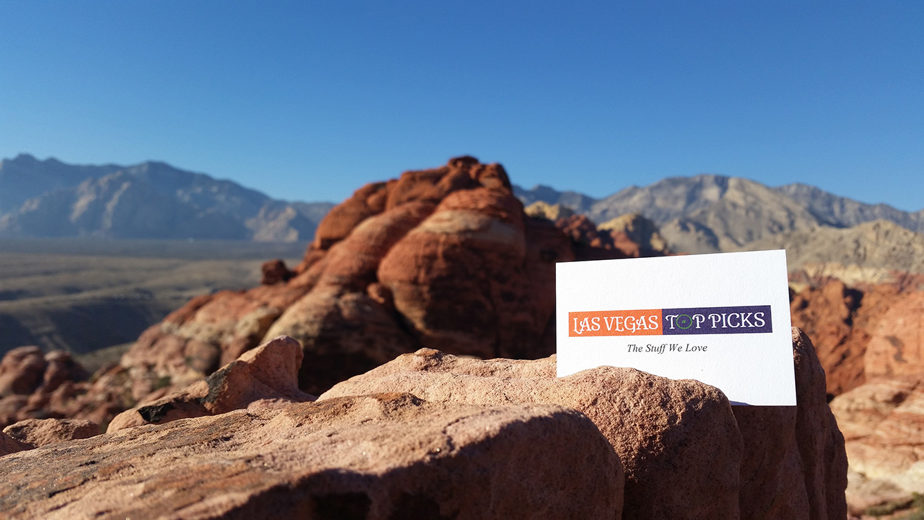 Calico-Hills-Ridgeline,-Las-Vegas-Top-Picks-Business-Card,-Red-Rock-Vegas