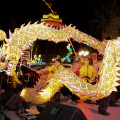Festivities-at-The-LINQ,-Chinese-New-Year,-Las-Vegas
