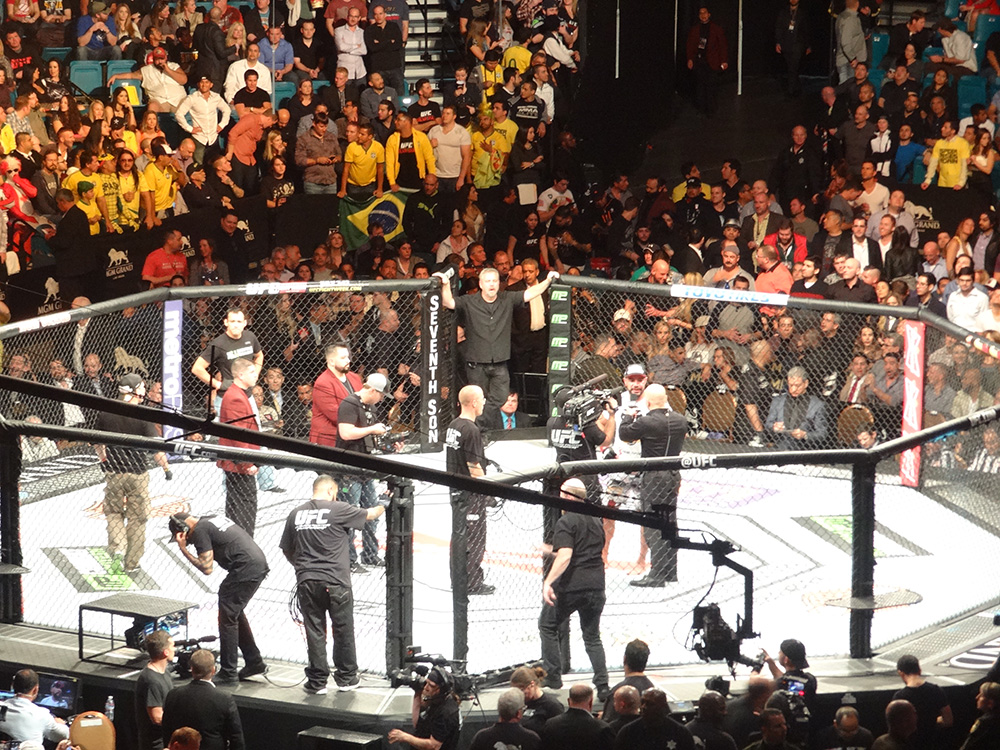 Post-Fight-Interviews,-UFC-at-MGM-Grand-Garden-Arena,-Las-Vegas