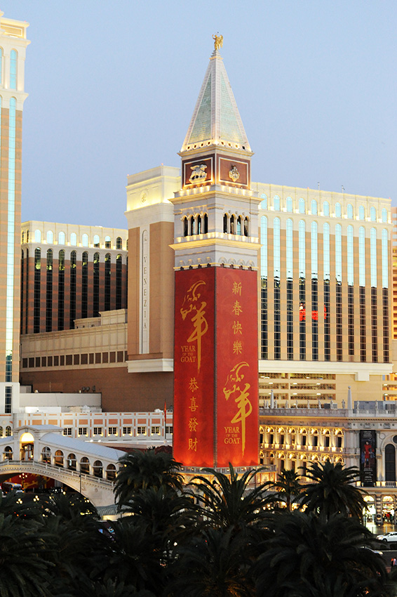 The-Venetian-exterior,-Chinese-New-Year,-Las-Vegas