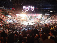 Watching-Silva-Diaz,-UFC-Fight,-MGM-Grand-Garden-Arena,-Las-Vegas