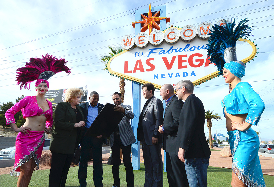 Ceremony,-Ringo-Starr-Day-in-Las-Vegas,-Las-Vegas-Sign,-Carolyn-Goodman-&-Lawrence-Weekly