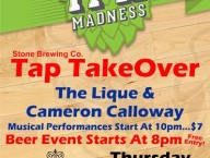 Stone IPA Madness & Live Music Tomorrow